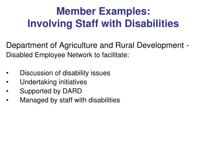Member Examples: