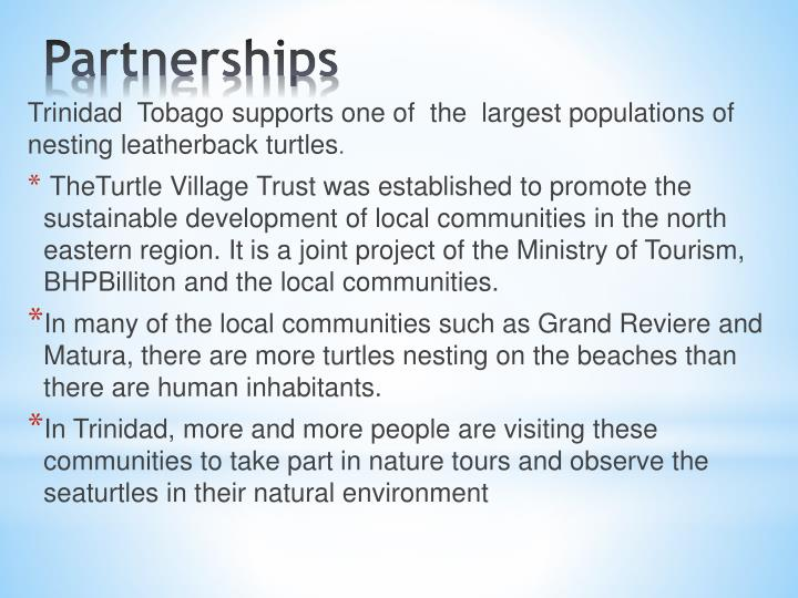 Trinidad  Tobago supports one of  the  largest populations of nesting leatherback turtles