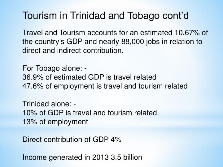 Tourism in Trinidad and