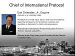 chief of international protocol