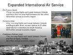 expanded international air service