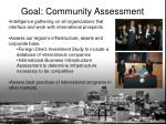 goal community assessment