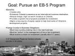 goal pursue an eb 5 program1