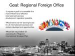 goal regional foreign office