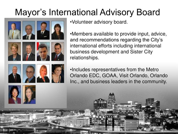 Volunteer advisory board.