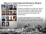 mayor s international advisory board