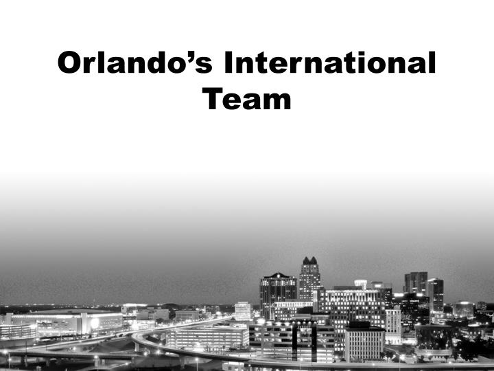 Orlando's International Team