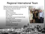 regional international team