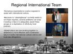 regional international team1