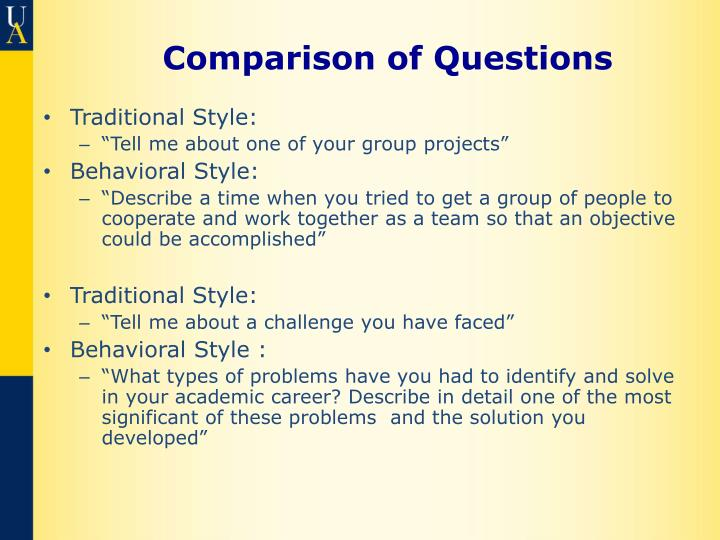Comparison of Questions