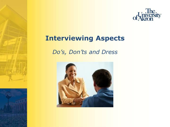 Interviewing Aspects