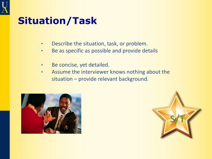 Situation/Task