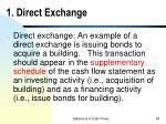 1 direct exchange