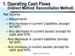 1 operating cash flows indirect method reconciliation method