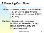 3 financing cash flows