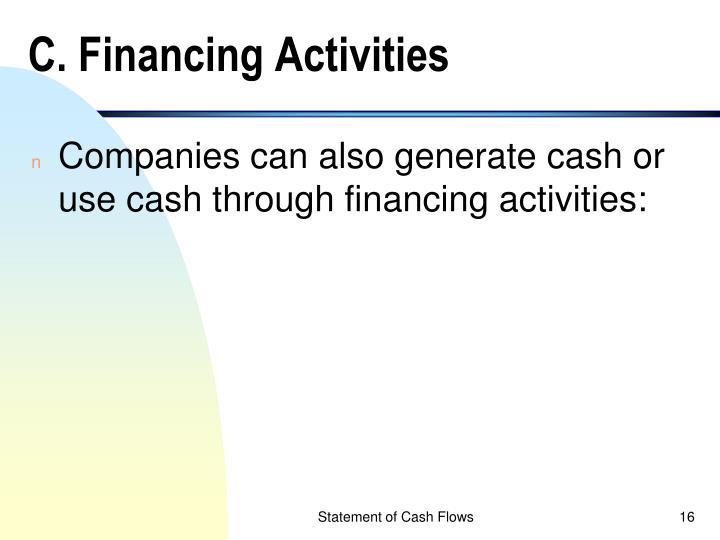 C. Financing Activities