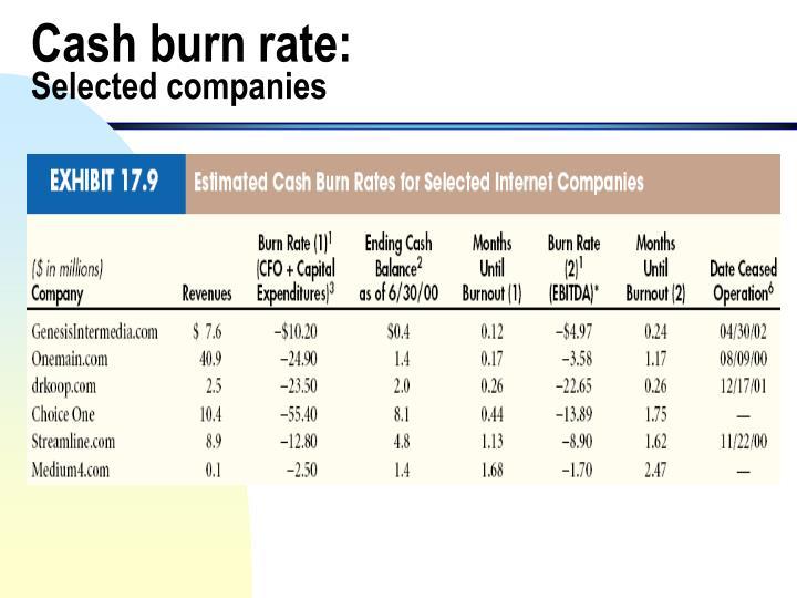 Cash burn rate: