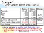 example 1 layton company balance sheet 12 31 x2