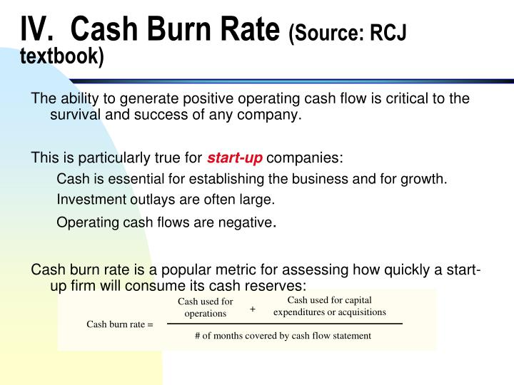 IV.  Cash Burn Rate