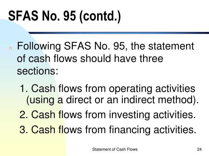 SFAS No. 95 (contd.)