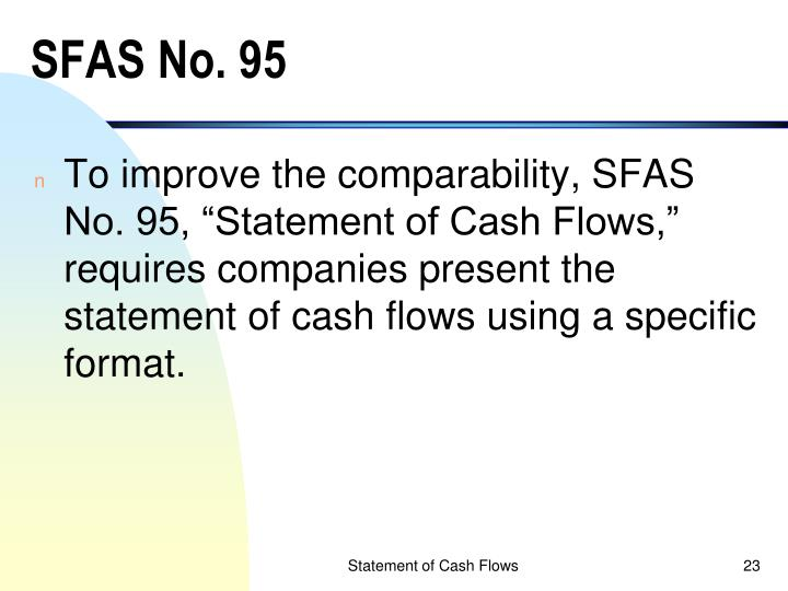 SFAS No. 95