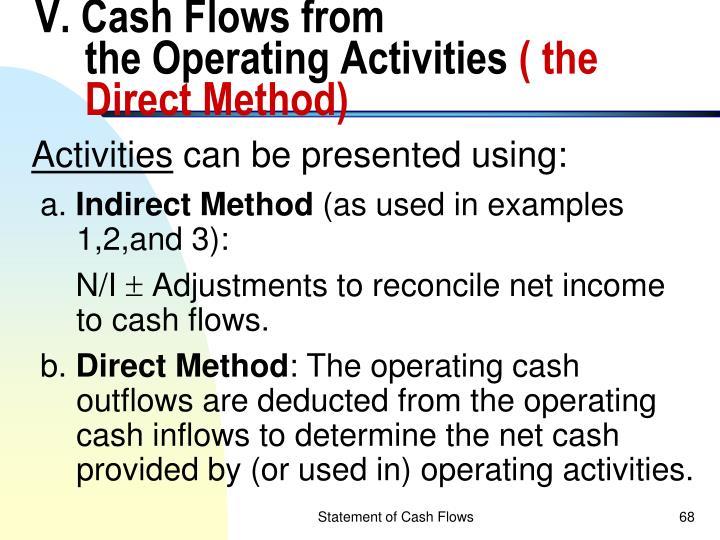 V. Cash Flows from