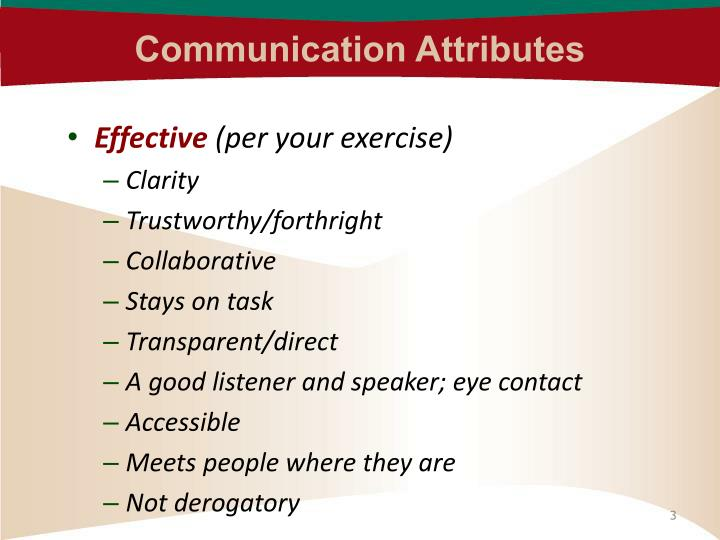 Communication Attributes