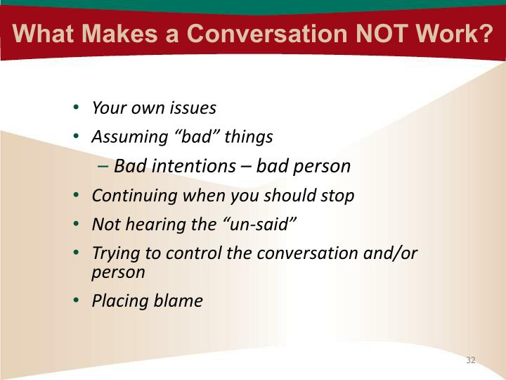 What Makes a Conversation NOT Work?
