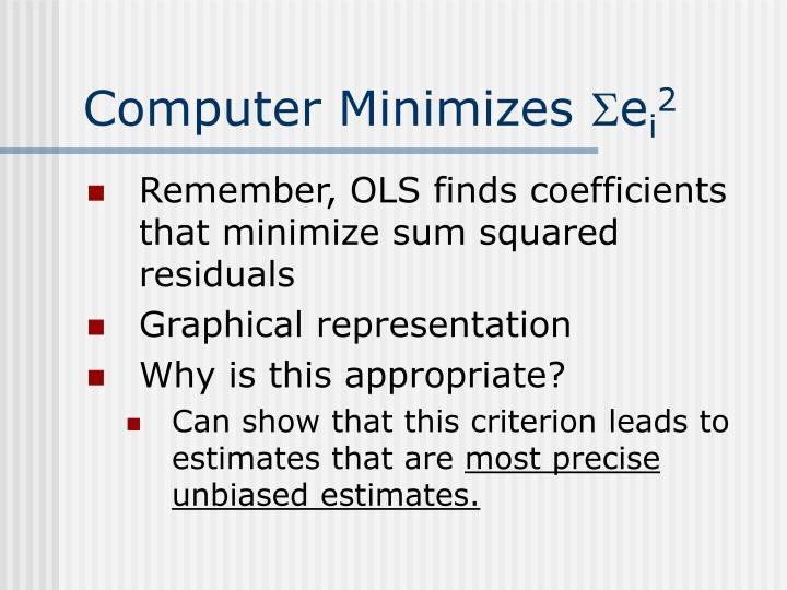 Computer Minimizes