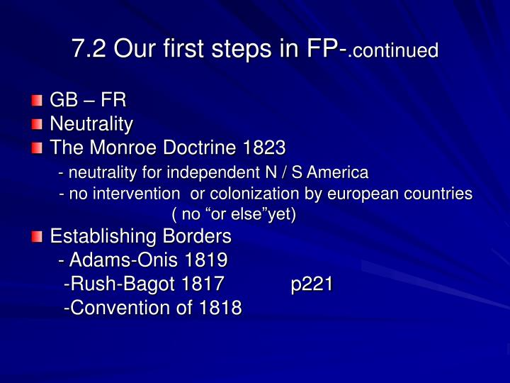 7.2 Our first steps in FP-