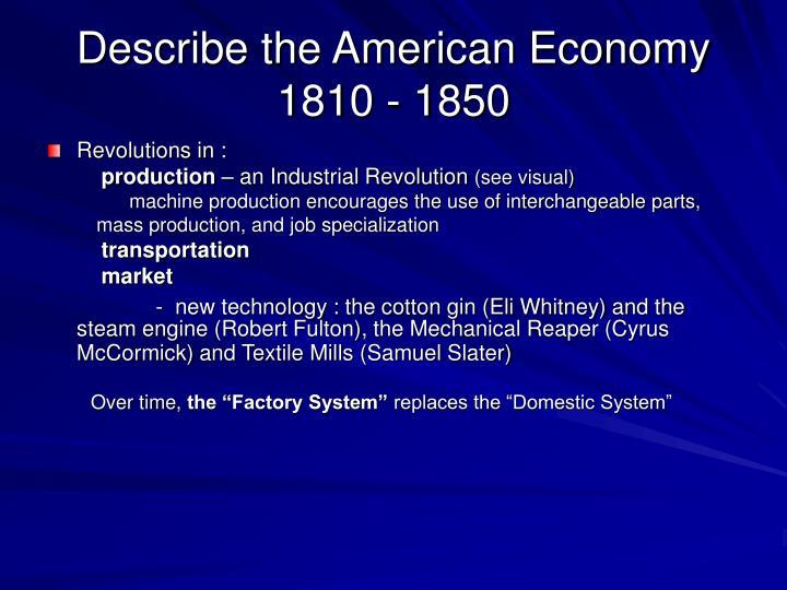 Describe the American Economy