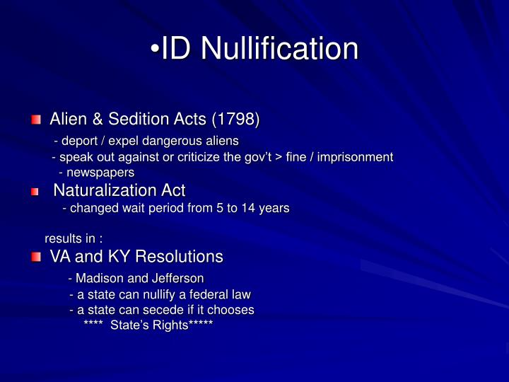 ID Nullification