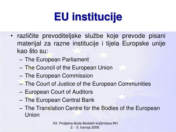 EU institucije