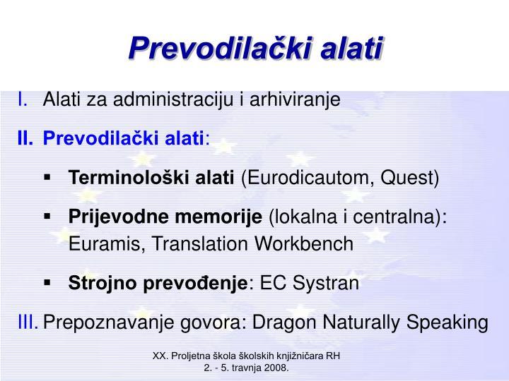 Prevodilački alati