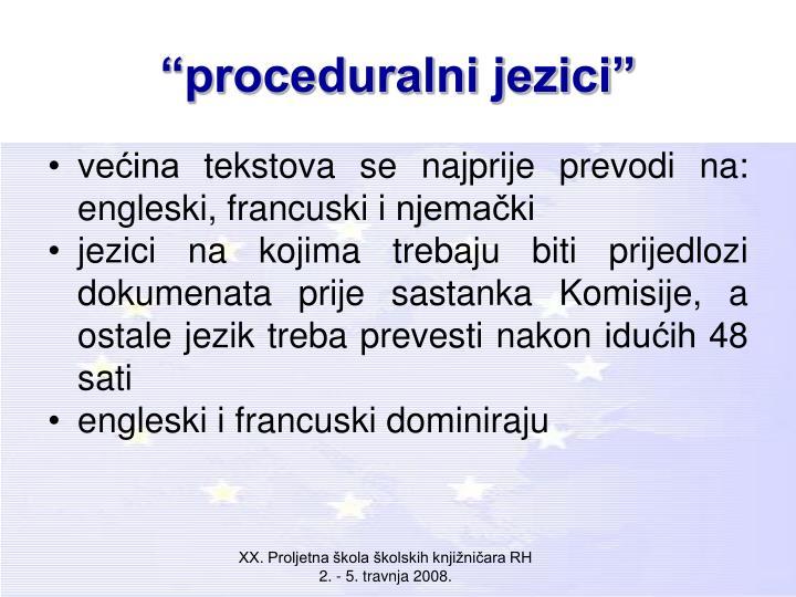 """""""proceduralni jezici"""""""