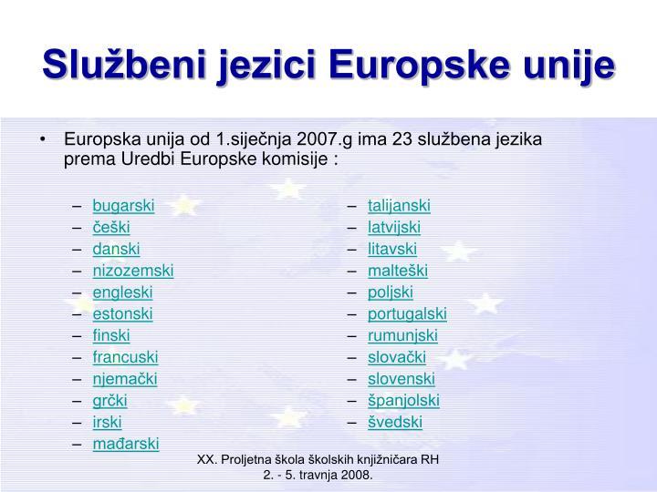Službeni jezici Europske unije