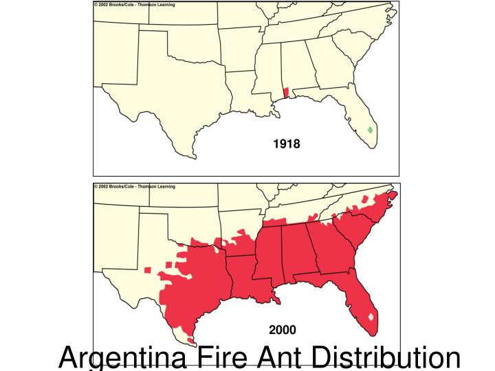 Argentina Fire Ant Distribution