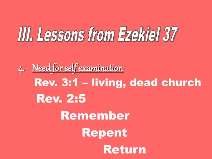 III. Lessons from Ezekiel 37