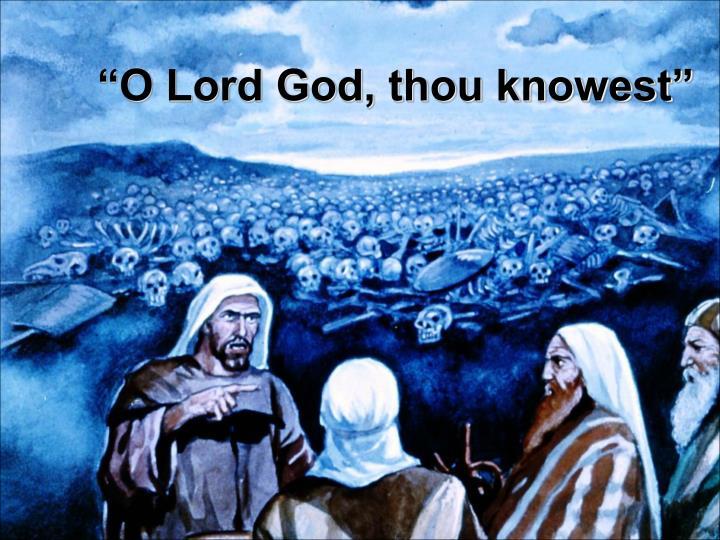 """""""O Lord God, thou knowest"""""""