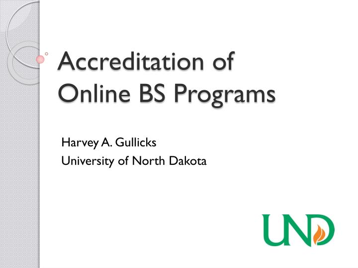 Accreditation of