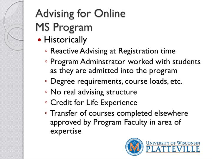 Advising for Online