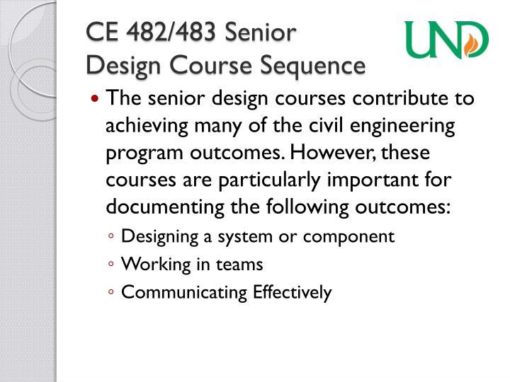 CE 482/483 Senior