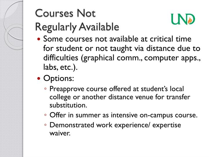 Courses Not