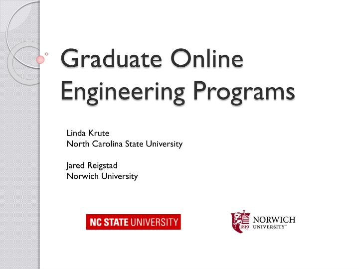 Graduate Online Engineering Programs