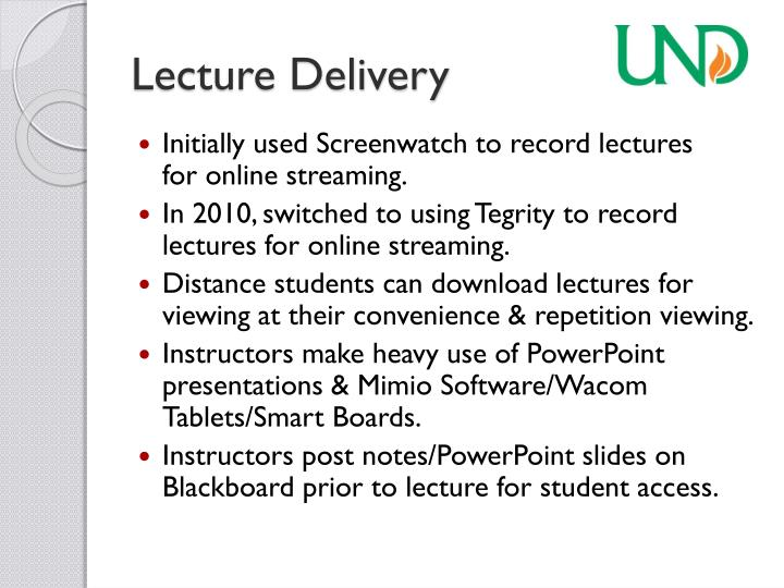 Lecture Delivery