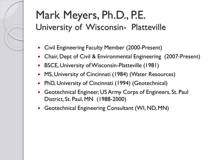 Mark Meyers, Ph.D., P.E.
