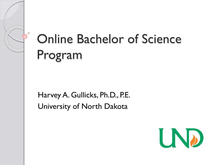 Online Bachelor of Science Program