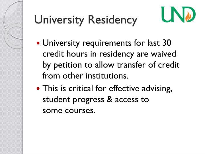 University Residency