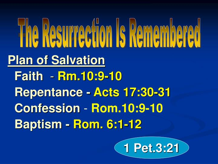 The Resurrection Is Remembered