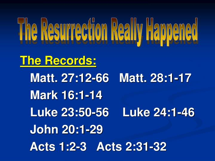 The Resurrection Really Happened